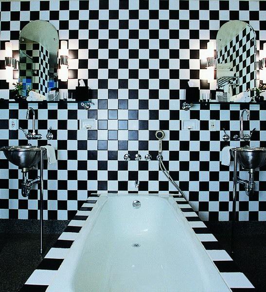 Andree Putman Salle de bains hotel Morgans